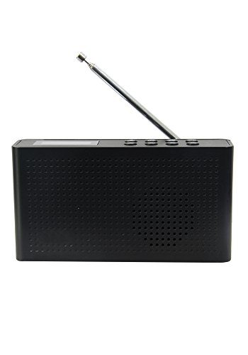 Digital Audio Broadcasting DAB Internet Radio with WiFi and Bluetooth Wireless Smart Speaker FM Radio Clock Radio LED Display Color Black