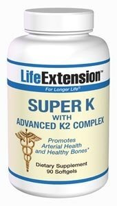 Life Extension Super K avec Advanced K2 Capsules complexes, 90-Count