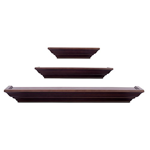 Burnes of Boston LL2931 Level Line 3 piece Ledge Set, Walnut