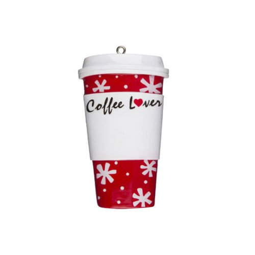 Coffee Cup Christmas Tree Ornament