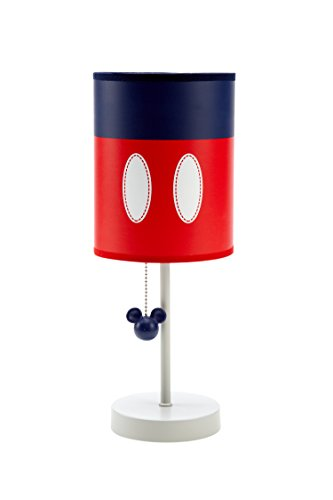 Disney Shades Lamp (Disney Baby Mickey Mouse Best Buddies Lamp Base and Shade, Blue/Red)