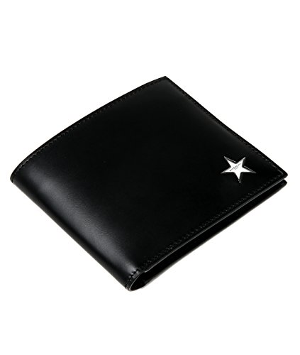 Wiberlux Givenchy Men's Star Logo Detail Billfold Real Leather Wallet One Size...