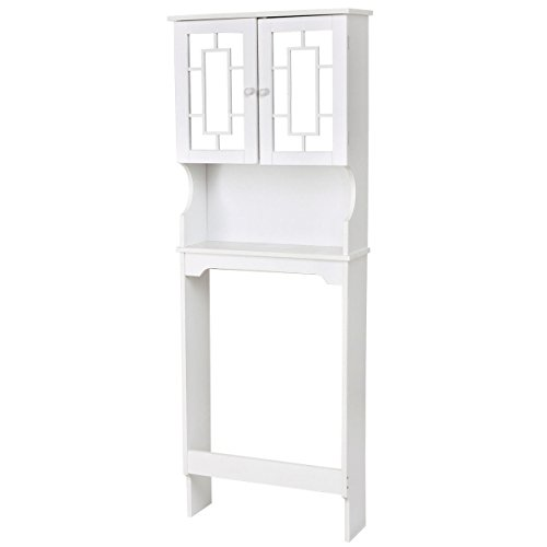 Over Toilet Space Saver Storage Cabinet Shelf Bathroom White by totoshop