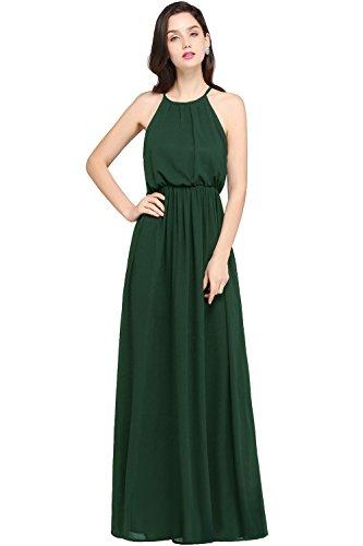 Babyonlinedress Deep Green Slimming Chiffon Long Formal Dress,Deep Green,2 from Babyonlinedress