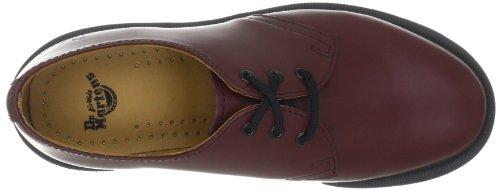 2 cuero de para 10078102 cordones de Rojo Zapatos Smooth 1461 hombre Dr Martens fqzURwS