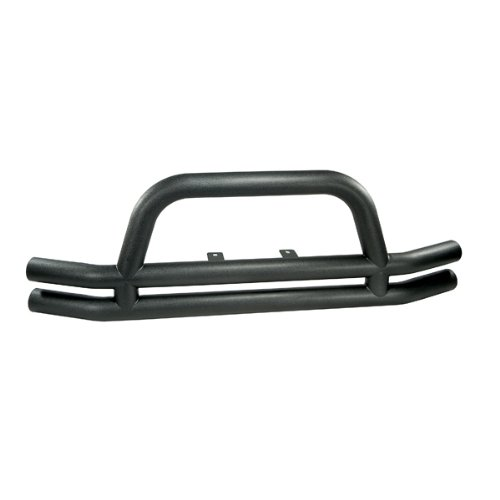 Rugged Ridge 11561.01 Textured Black Front Tube Bumper with Grill Guard ()