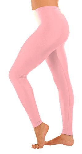 Marvoll Women's Lycra Spandex Footless Leggings (XX-Large, Pink)