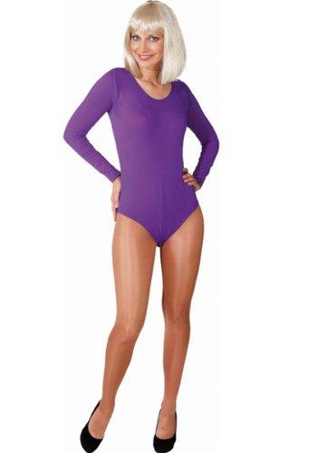 Body in verschiedenen Farben und Größen als Verkleidung / Kostümunterzieher, Farbe:lila;Größe:S/M