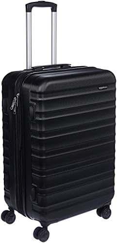 AmazonBasics Hardside Spinner Travel Luggage Suitcase - 26 Inch, Black