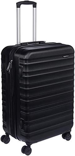 AmazonBasics Hardside Spinner Travel Luggage Suitcase - 26 Inch, Black