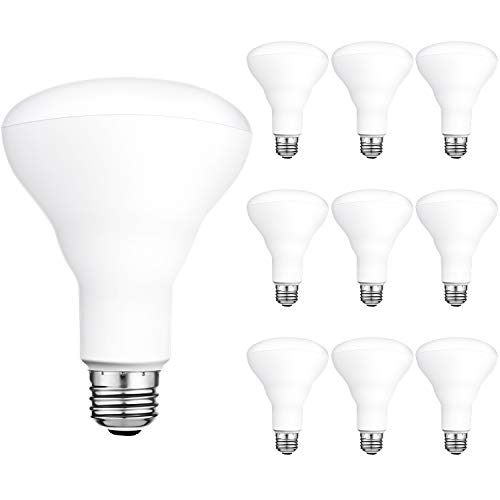 Hykolity 10 Pack Flood Light Bulb, BR30 LED Bulb for Indoor/Outdoor Downlight Recessed Can Light, Dimmable, 11W=75W, 5000K Daylight, 850lm, E26 Base
