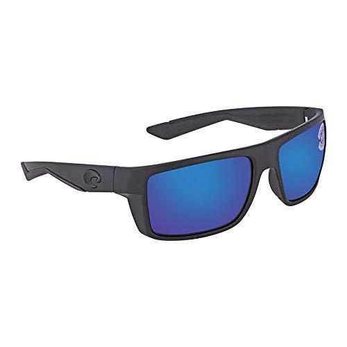Costa Del Mar Motu Sunglasses, Blackout, Blue Mirror 580 Glass Lens (Costa Del Mar Glass Lens)