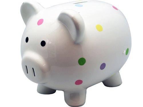Ceramic Large Polka Dot Piggy Bank by Circo Baby