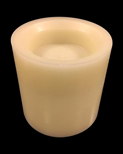 Vivre Royale Gorgeous Rustic LED Flameless Pillar Candle, False White Wick, REAL QUALITY WAX, Very Romantic, Unique For Holidays, Gift, 5h Timer, 3 AA Batteries Included, IVORY