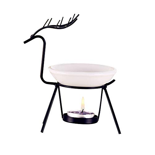 Newkelly Home Decorations Aroma Stainless Steel Oil Burner Candle Aromatherapy Oil ()