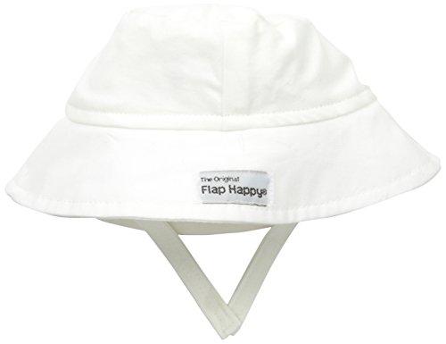 Flap Happy Boys' UPF 50+ Organic Bucket Hat, Natural Large