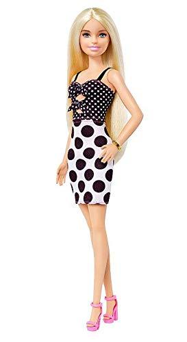 Boneca Barbie Fashionistas - 134 Cabelos Longo Loiro Vestido de Bolinhas