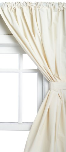 Carnation Home Fashions Vinyl Bathroom Window Curtain, Bone, 45