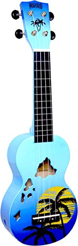 Mahalo Ukuleles Mahalo Designer Series Ukulele, Right Handed, Blue Burst, Soprano (MD1HA bub)