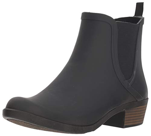 Lucky Brand Women's BASELH2O, Black, 8 Medium US (Best Rubber Boot Brands)