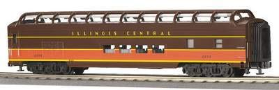 MTH O Scale Illinois Central 70' ABS Full Length Vista Dome Passenger #20-6761