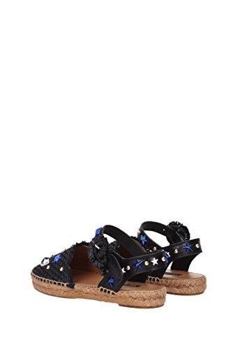 Espadrilles Dolce & Gabbana Damen - Raffia (ce0089ag487) Eu Schwarz