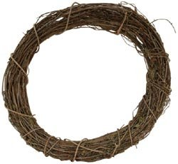 Darice Bulk Buy Grapevine Wreath 10 inch Bulk GPV10 (3-Pack) (Wreath 18 Vine)