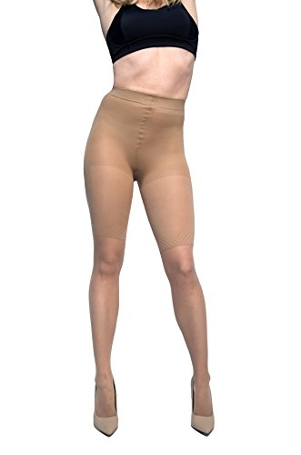 Curvation Women's Plus Size Body Sculptor Silky Sheer Shaping Pantyhose, Nude, Curvaceous 2 (Body Shaping Pantyhose)