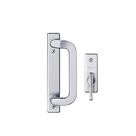 Andersen Anvers 2 Panel Gliding Patio Door Hardware Set In Satin Nickel