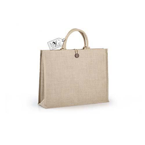 My Custom Style - Bolso de tela para mujer beige 1 shopper Juta