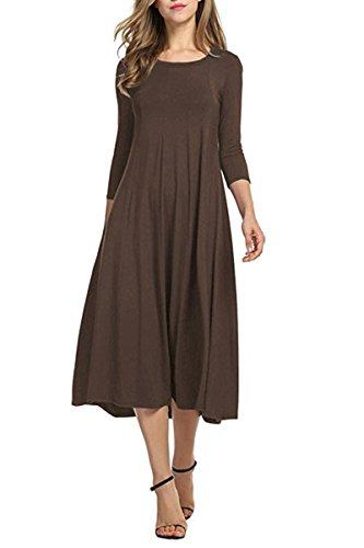 Brown Halter Dress - 9