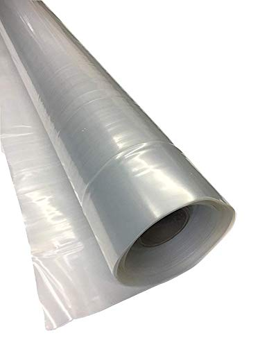 Greenhouse Plastic Film Clear Polyethylene Cover UV Resistant, 12 ft Wide x 25 ft Long