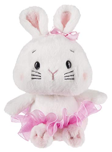 - Ganz Ballerina Plush Doll Brigette a White Baby Bunny with Pink Tutu and Bow Spring Easter Plush Toy (White Bunny)