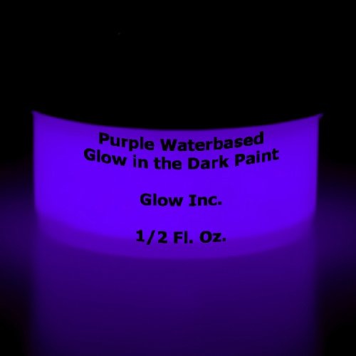 Purple Glow in the Dark Paint 1/2 Fluid Ounce Dark Energy Gallon