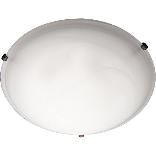 Maxim 2681MROI Malaga 3-Light Flush Mount, Oil Rubbed Bronze Finish, Marble Glass, MB Incandescent Incandescent Bulb , W Max., N/A Safety Rating, Glass Shade Material, Rated Lumens