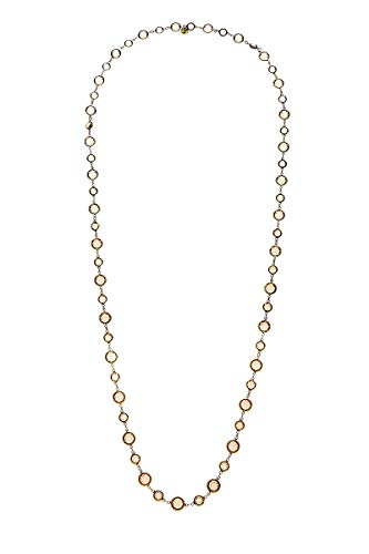 CHANEL Gold & Brown Crystal Necklace -
