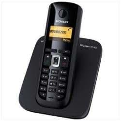 Siemens Gigaset A580 - Teléfono fijo digital (inalámbrico, manos libres, pantalla LCD), negro