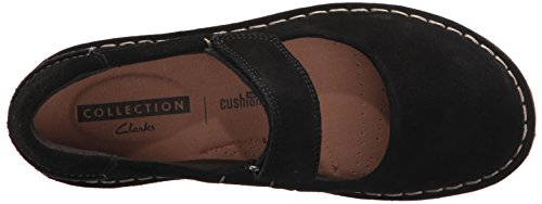 Clarks Jane Mary Aster Suede Flat Women's Tamitha Black rxBq7r