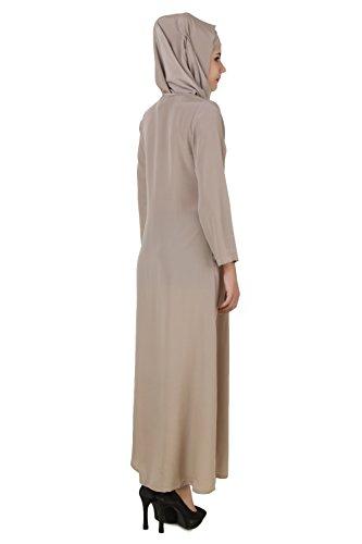 177 Formale MyBatua u graue AY Abnutzung Beiläufige Burqa Jalabiya Maxi warme Muslim Kleid Abaya FFwgtOqpH