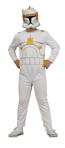 [Star Wars The Clone Wars Commander Cody Action Suit Costume, Child Size 8 to 10] (Star Wars Commander Cody Costumes)