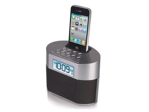 Ipod Touch Alarm Clock (iHome iP23GVC Dual Alarm Iphone/ipod (Gunmetal))