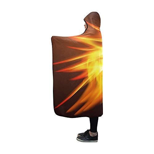 Basketball Hooded (AIKENING Hooded Blanket Fiery Dragon Basketball Blanket 60x50 Inch Comfotable Hooded Throw Wrap)