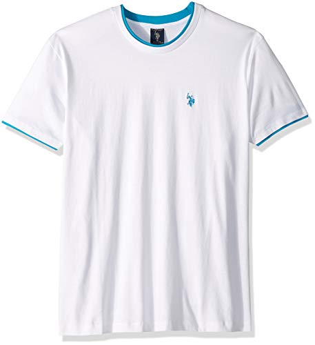 U.S. Polo Assn. Mens Double Ringer Crew Neck T-Shirt