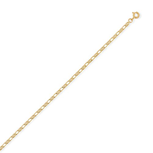 DIAMANTLY Bracelet or 750 marine diamant 6 faces alterne 2,2mm - 18 cm