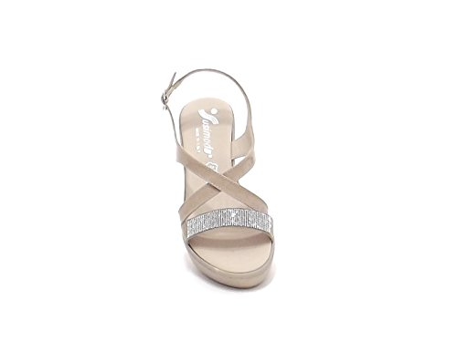 Susimoda scarpa donna, sandalo 243640 vernice beige E7102