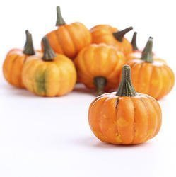 Artificial Fall Harvest Mini Pumpkins (12) Shifashion