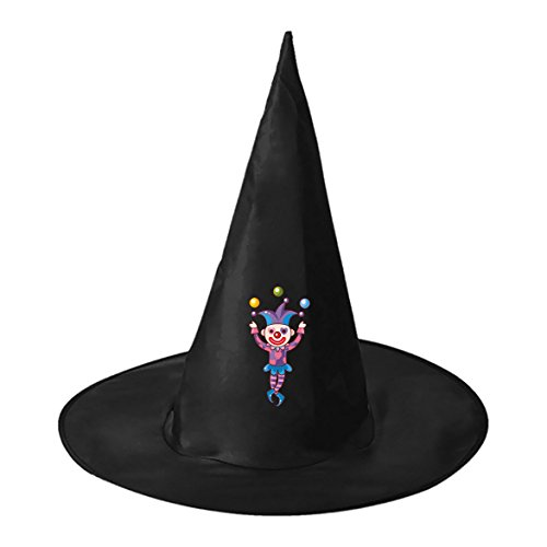 Clown with Ball Conical Cosplay Witch Hat Toy to Halloween Costume Ball for Unisex Kids (Best Homemade Halloween Costume Ideas Adults)