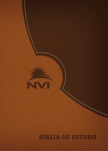 Bíblia de Estudo NVI - Capa Marrom e Marrom Escuro