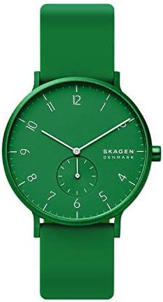 Skagen Aaren Colored Silicone Quartz Minimalistic 41mm Watch WeeklyReviewer