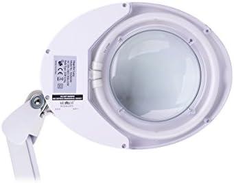 KEMOT NAR0299, Werkstattlampe mit Lupe, Licht, 5D, 5 Zoll, 22 W T4, Glas, weiß
